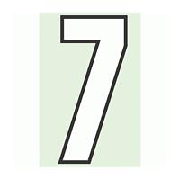 路面用番号表示 7 合成ゴム 280×1.2mm厚 (834-57)
