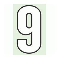 路面用番号表示 9 合成ゴム 280×1.2mm厚 (834-59)
