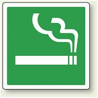 ピクトサイン 喫煙所 100mm角・2枚1組 (839-03A)