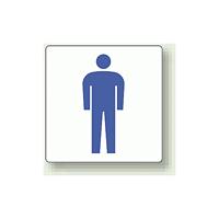 ピクトサイン 男性用 100mm角・2枚1組 (839-08A)