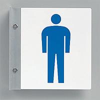 トイレ突出し表示 男子用 200×200 (842-56A)