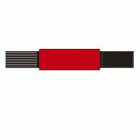 差替楽々・ピンレスゴム腕章 赤 (848-53)