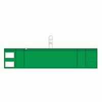 差替楽々・ファスナー式腕章 クリップタイプ 緑 (848-57)