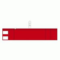 差替楽々・ファスナー付腕章 クリップタイプ 赤 (848-58)