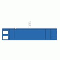 差替楽々・ファスナー式腕章 クリップタイプ 青 (848-59)