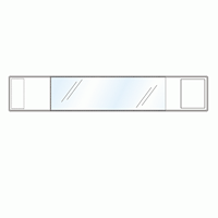 差替楽々・面ファスナー式ワンタッチ腕章 白 (848-61)