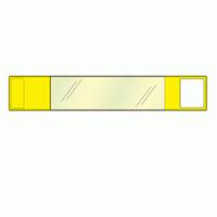差替楽々・面ファスナー式ワンタッチ腕章 黄 (848-62)