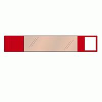 差替楽々・面ファスナー式ワンタッチ腕章 赤 (848-64)