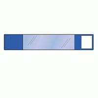 差替楽々・面ファスナー式ワンタッチ腕章 青 (848-65)
