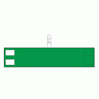 無地腕章 クリップタイプ 緑 (848-68)