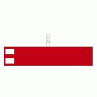 無地腕章 クリップタイプ 赤 (848-69)