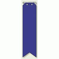 ビニール製リボン 青無地 10枚1組 (850-24)