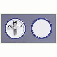 ネームバッジ 青 用紙:Φ40mm 10個1組 (850-67)