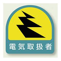 作業管理関係ステッカー 電気取扱者 2枚1組 (851-51)