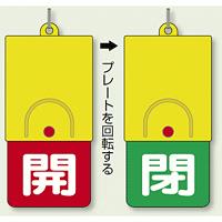 回転式両面表示板 開 (赤地) ・閉 (緑地) (857-35)