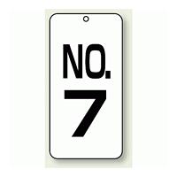 数字表示板 配管バルブ表示 NO,7 80×40 2枚1組 (859-07)