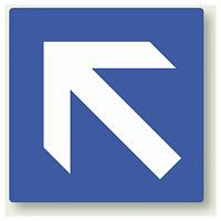 矢印ステッカー 青・斜め上矢印 100角・5枚1組 (862-36)