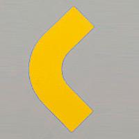 屋内床貼用コーナーテープ (50mm幅用) 10枚1組 カラー:黄 (862-61)