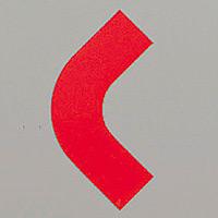 屋内床貼用コーナーテープ (50mm幅用) 10枚1組 カラー:赤 (862-63)