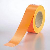 蛍光テープ (セパ付) オレンジ 50mm幅×20m巻 (863-21)