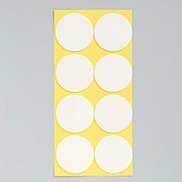 丸型発泡両面テープ (セパ付) 55mmΦ 80個入 (1枚8個付×10) (863-363)