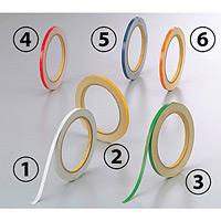 反射テープ (セパ付) 5mm幅×10m巻 (2巻1組) カラー:(1)白 (863-40)