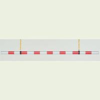 高さ制限バー (赤・白) ABS 樹脂 54φ×1.9m (866-27A)