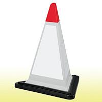 サインピラミッド 白無地 (グレー) 867-757GW