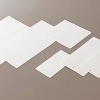 エコユニボード (再生PPボード) 白無地 450×450×1.2/4mmΦ穴4スミ (1枚) (886-21)