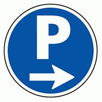 上部標識 P→ (サインタワー同時購入用) (887-702R)