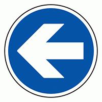 上部標識 矢印 (上下左右取付可) (サインタワー同時購入用) (887-704)