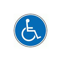上部標識 車イスマーク (サインタワー同時購入用) (887-726)