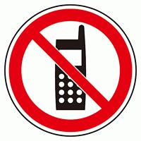 上部標識 電話禁止 (サインタワー同時購入用) (887-727)