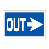 下部標識 OUT→ (サインタワー同時購入用) (887-742R)