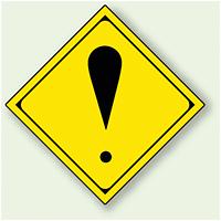 警告標識 その他の危険 アルミ 一辺 450 (894-49)