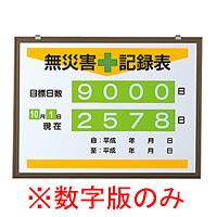 無災害記録表 (数字板のみ) (899-22)