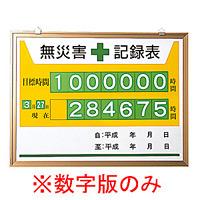 無災害記録表 (数字板のみ) (899-32)