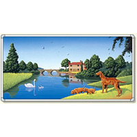 イラストパネル1 湖岸の犬 870×1740mm (902-81A)