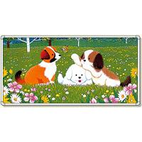 イラストパネル 三匹の犬 870×1740mm (902-83)