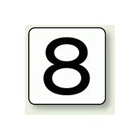 JIS安全表示ステッカー 数字表示 8 大 10枚1組 (AS-24-8L)