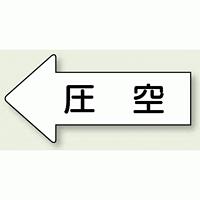 JIS配管識別方向ステッカー 左向き 圧空 大 10枚1組 (AS-32-3L)