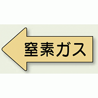 JIS配管識別方向ステッカー 左向き 窒素ガス 大 10枚1組 (AS-33-3L)