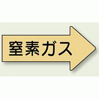 JIS配管識別方向ステッカー 右向き 窒素ガス 大 10枚1組 (AS-43-3L)