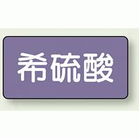 JIS配管識別ステッカー 横型 希硫酸 小 10枚1組 (AS-5-12S)