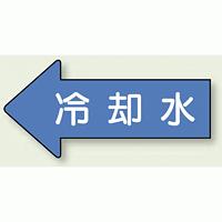 JIS配管識別方向ステッカー 左向き 冷温水 大 10枚1組 (AS30-3L)