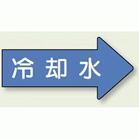 JIS配管識別方向ステッカー 右向き 冷温水 極小 10枚1組 (AS40-3SS)