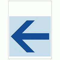 ワンタッチ取付標識 左矢印 (SMJ-11)