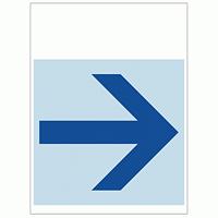ワンタッチ取付標識 右矢印 (SMJ-12) ※名入れサービス実施中
