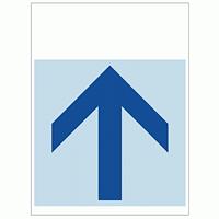 ワンタッチ取付標識 上矢印 (SMJ-13) ※名入れサービス実施中
