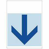 ワンタッチ取付標識 下矢印 (SMJ-14) ※名入れサービス実施中